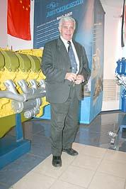 Юрий Григорьевич Субботин, Главный конструктор ОАО Автодизель в 1988-2003 годах. Музейный комплекс ОАО Автодизель, Ярославль, 19 марта 2010 года