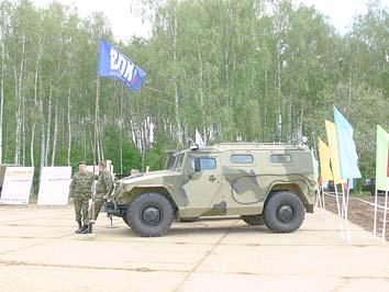 Тигр на праздновании 100-летия Военного автомобилиста. Полигон 21 НИИИ МО РФ около г. Бронницы Московской области, 29 мая 2010 года