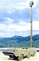 Унифицированная радиолокационная станция разведки наземных движущихся целей 1Л268 Кредо-1С на шасси БАЗ-5921, изображение является компьютерным монтажом